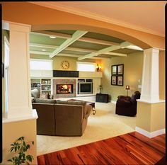 Galloway Custom Home living room by West Michigan builder.  Featured in Parade of Homes