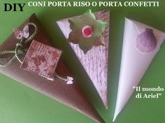 DIY coni PORTA RISO o PORTA CONFETTI,coppettini fai da te,scrapbooking,wedding ideas - YouTube