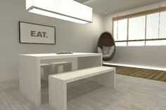 More ideas for dining n work area!