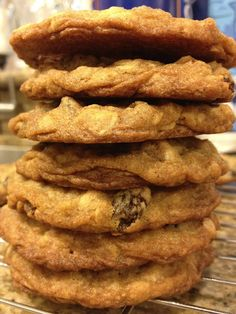 """Paula Deen's Chewy Oatmeal Lace Cookies """"the chewiest most delicious oatmeal raisin cookies ever"""""""