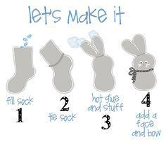 KATE&MACY: No Sew Sock Bunny