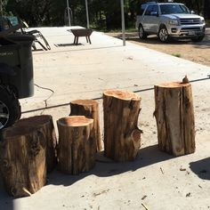 Trying To Get Caught Up On Inventory U0026 Orders Of Our Tree Stump Side Tables,