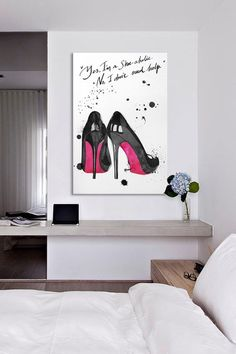 """Yes I'm a Shoe-aholic. No I don't need help."" Express Yourself With Wordy Art on HauteLook"