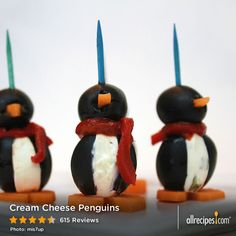 "Cream Cheese Penguins | ""People LOVE these and they're sooo cute! Definitely a conversation starter at any wintertime party."" – Jessica"