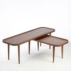 Table basse noyer massif, Magosia grand modèle