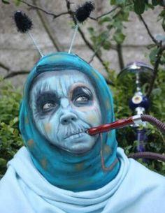 alice in wonderland caterpillar costume | Via Aleaza Goldberg