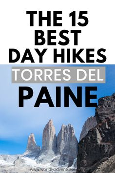 If there's one place you've heard about in Patagonia, bets are it's Torres del Paine National Park. I've gone into extensive detail about my 15 favorite trails in Torres del Paine, Patagonia. Not only this, you can find extremely useful logistical information to help you visit the park via public transport or your own vehicle, as well as tips and tricks to ensure that your visit goes without a hitch and you don't miss out on any of the park's spectacular trails and dazzling viewpoints. Patagonia Travel, In Patagonia, Best Hiking Gear, Hiking Tips, Backpacking South America, South America Travel, Adventure Tours, Adventure Travel, Travel Guides