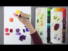 [수채화의 기초] 내가 원하는 색깔은 어떻게 만들까? 색감 만드는 방법 - YouTube Watercolor Mixing, Watercolor Paintings, Oil Painting Lessons, Watercolor Techniques, Pictures Images, Art Tips, Art For Kids, Paint Colors, Videos