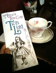 "Cute tea room in New York City, ""Alice's Tea Cup""."