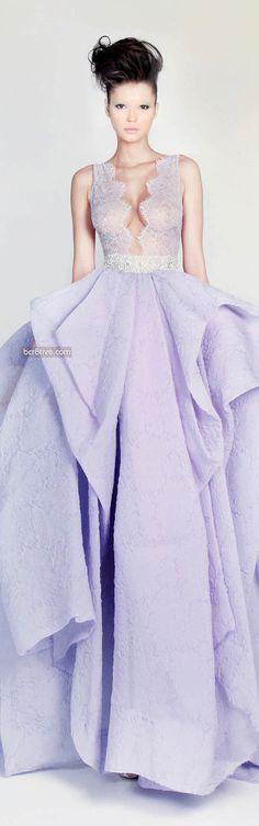 Rami Kadi – Couture Spring Lavender Gown w Sheer Bodice 2013