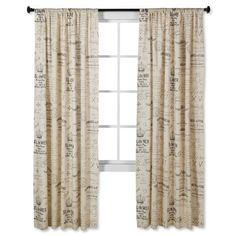 Script Curtain Panel 55