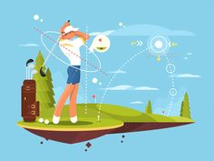 Buy Male Golfer Playing Golf by on GraphicRiver. Male golfer playing golf, calculates the impact and trajectory for exact hit. Golf Websites, Golf Putting Tips, Golf Instruction, Perfect Golf, Sports Activities, Play Golf, Golf Tips, Golf Clubs, Golf Courses