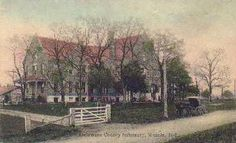 INDIANA POORHOUSE PICTURE POSTCARDS MUNCIE IN