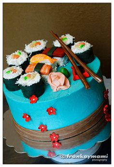 Sushi cake- perfect 4 my sister