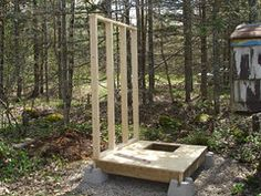 Survival and Urban Survival Building An Outhouse, Tiny Camper, Urban Survival, Outdoor Structures, Diy Crafts, Projects, Project Ideas, Wood, House