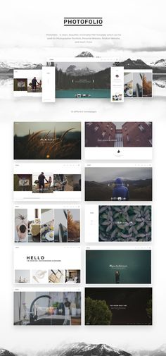 Photofolio - Photography & Portfolio PSD Template on Behance