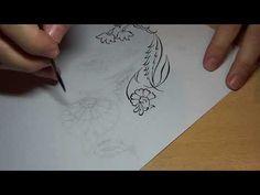Fırça Kullanım Teknikleri/brush techniques - YouTube Drawing Exercises, Tile Art, Pattern Art, Watercolor, Drawings, Painting, Youtube, Flower Doodles, How To Paint