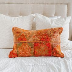 One-of-a-kind Moroccan kilim pillow made from vintage rugs. Moroccan Kilim, Silk Pillow, Fringe Pillows, Kilim Pillows, Moroccan Throw Pillow, Kilim, Pillows, Throw Pillows, Vintage Rugs