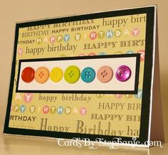 Happy Birthday Card made with Rainbow Buttons