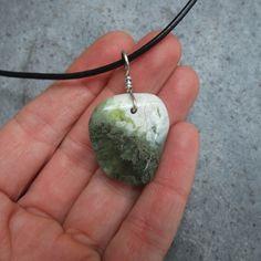 Prehnite jewelry -  naturally sourced gem stone from Australia.