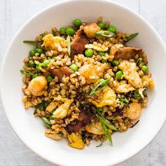 Fried Brown Rice with Pork and Shrimp | America's Test Kitchen