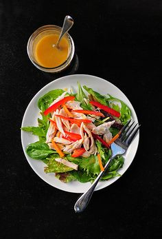 Simple and Light Honey Mustard Salad Dressing