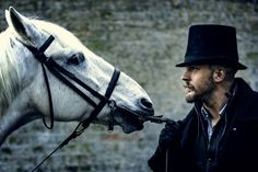 "Tom Hardy understands his ""Taboo"" character, James Delaney, better than anyone. But is the half-sister-loving cannibal a shaman or a madman? Peaky Blinders, Tom Hardy In Taboo, Taboo Tv Show, Tv Shows 2017, James Delaney, Steven Knight, Star Wars, Best Tv Shows, Punisher"