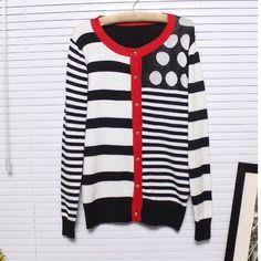 Final Sell 24hur.Sweater Girl Fashion Stripe Dot. - $25