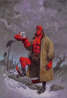 Hellboy Hamlet's Not the Weirdest Take, But It Is the Most Awesome - art by Miguelanxo Prado