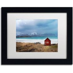 Trademark Fine Art Raise The House Canvas Art by Philippe Sainte-Laudy, White Matte, Black Frame, Size: 16 x 20, Red