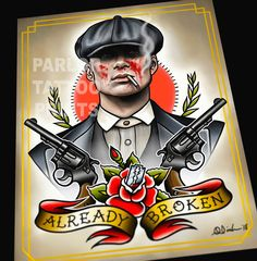 Peaky Blinders Arthur and/or John Tattoo Flash Art Print Tattoo Flash Art, Tattoo Sleeve Designs, Sleeve Tattoos, Tattoo Sleeves, Clockwork Orange Tattoo, New Tattoos, Tattoos For Guys, Peaky Blinders Tommy Shelby, Schrift Tattoos