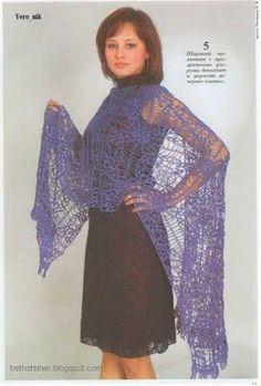 BethSteiner: crochet shawl with chart.