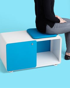 The Stash Sliding Door Locker is half storage, half seat and all awesome.