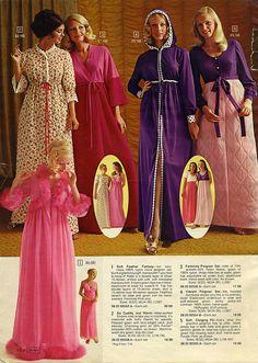 1973 Sears Christmas Catalog nightgowns