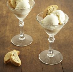 Baileys Italian Cafe  3 oz. Baileys with a Hint of Coffee over vanilla. Garnish with a half a biscotti  This recipe contains no more than 0.6 fl. oz. of alcohol per serving
