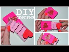 YouTube Diy Crafts How To Make, Easy Paper Crafts, Handmade Gifts For Boyfriend, Boyfriend Gifts, Easy Diy Gifts, Homemade Gifts, Tarjetas Pop Up, Hubby Birthday, Diy Valentines Cards