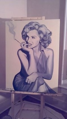 Items similar to Marilyn Monroe Smoking Original Painting on Etsy Cool Paintings, Original Paintings, Marilyn Monroe Smoking, Nurses, Simply Beautiful, Famous People, Pin Up, Portraits, Fine Art