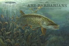 Image from http://www.artbarbarians.com/gallery2/images/182/ICE%20PIKE%20Northern%20Pike%20by%20Terry%20Doughty%20Large18175010.jpg.