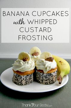 recipe banana cupcakes with whipped custard frosting banana cupcakes ...