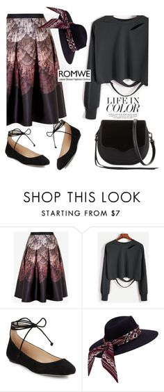"""Romwe"" by nejra-l ❤ liked on Polyvore featuring Ted Baker, Karl Lagerfeld and Rebecca Minkoff"