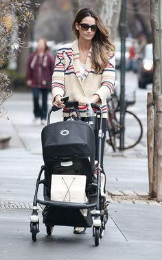 The Bugaboo Stroller. The quintessential buggy for every stylish mom. As seen being pushed by Lily Aldridge.