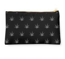 Studio Pouch - This pot leaf pattern, marijuana design is clean looking and understated, but still lets your appreciation for cannabis show. This design is also available with a white background.