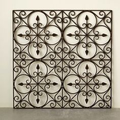Hand Made Wrought Iron Wall Art is a unique metal wall hanging with a tuscany style. Visit Antique Farmhouse for more metal wall art. Wrought Iron Wall Art, Wrought Iron Stairs, Iron Wall Decor, Metal Tree Wall Art, Iron Window Grill, Iron Gate Design, Window Grill Design, Iron Balcony, Iron Work