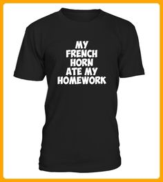 My French Horn Ate My Homework Band Geek TShirt TShirts - Tischtennis shirts (*Partner-Link)