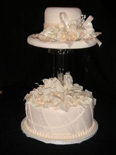 Fondant Hat Box Cake W Sugar Flowers Bows