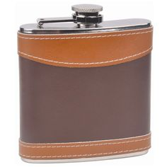 2-tone Leather Hip Flask, 6oz  $15.95