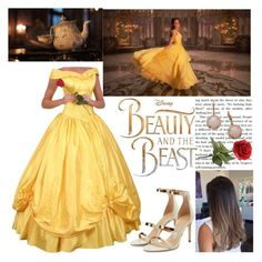"""BEAUTY AND THE BEAST"" by fiorella17 ❤ liked on Polyvore featuring Disney, Tamara Mellon, Max & Chloe, BeautyandtheBeast and contestentry"