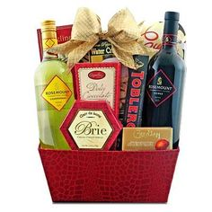Gift Baskets on Pinterest | Wine Gift Baskets, Wine Gifts and ...