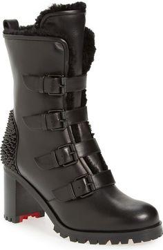 9a657e7b9 CHRISTIAN LOUBOUTIN 'Glorymount' Studded Buckle Boot. #christianlouboutin  #shoes #boots Leather