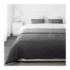 IKEA - KARIT, Colcha e 2 capas de almofada, 260x280/40x65 cm, , Colcha e capas de almofada acolchoadas para uma suavidade extra.Pode variar com facilidade o estilo do seu quarto com esta colcha pois tem lados contrastantes.A capa da almofada é fácil de retirar com a ajuda do fecho oculto.Fácil de transportar e guardar, pois a sua embalagem é também um saco de arrumação.